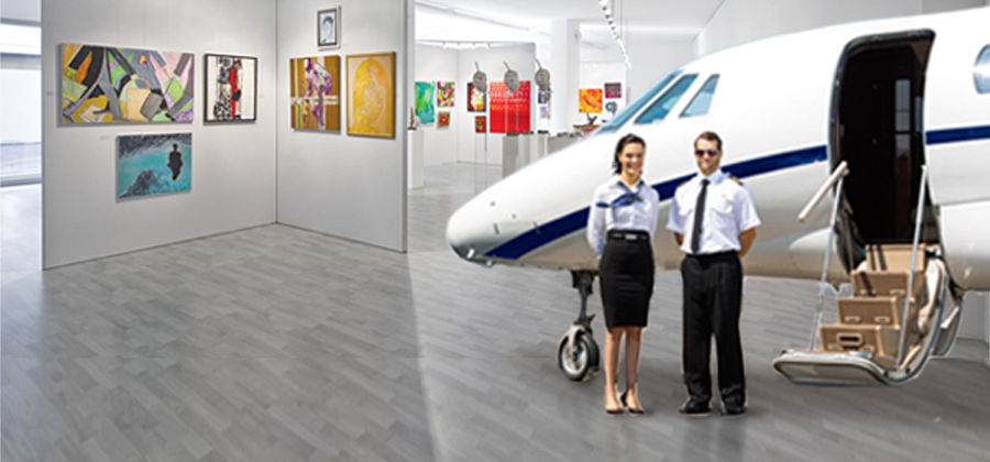 Art fairs by private jet